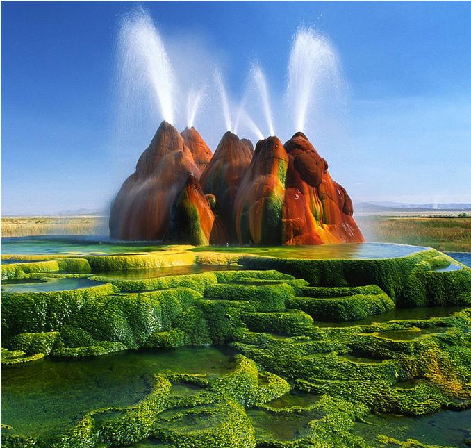 世界风情 飞喷泉