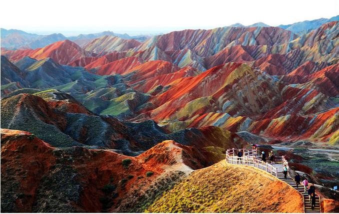 世界风情 中国张掖丹霞国家地质公园