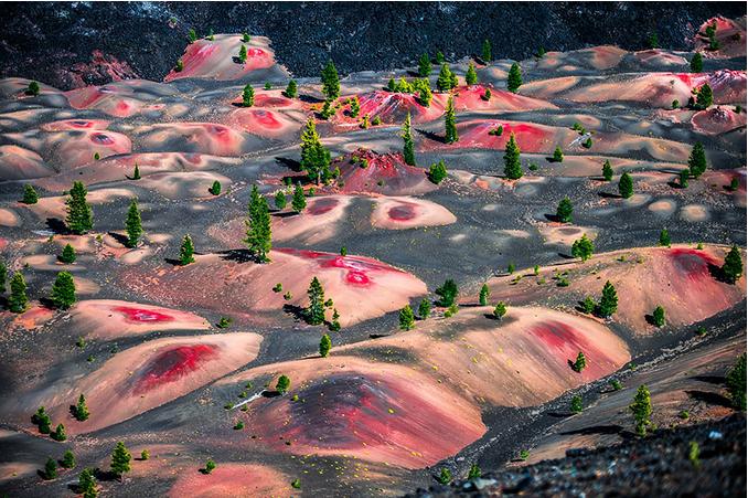 世界风情 拉森火山国家公园