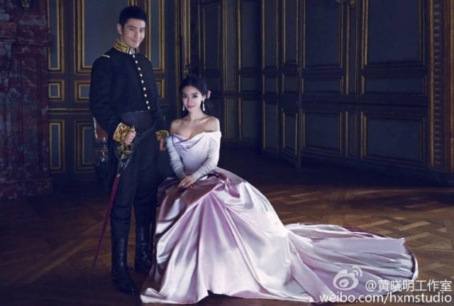 中国 名星 Angelababy(杨颖)黄晓明