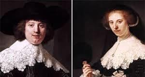 荷兰法国共享伦勃朗婚礼人像画