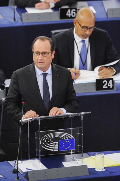 德法领袖欧议会演说 奥朗德