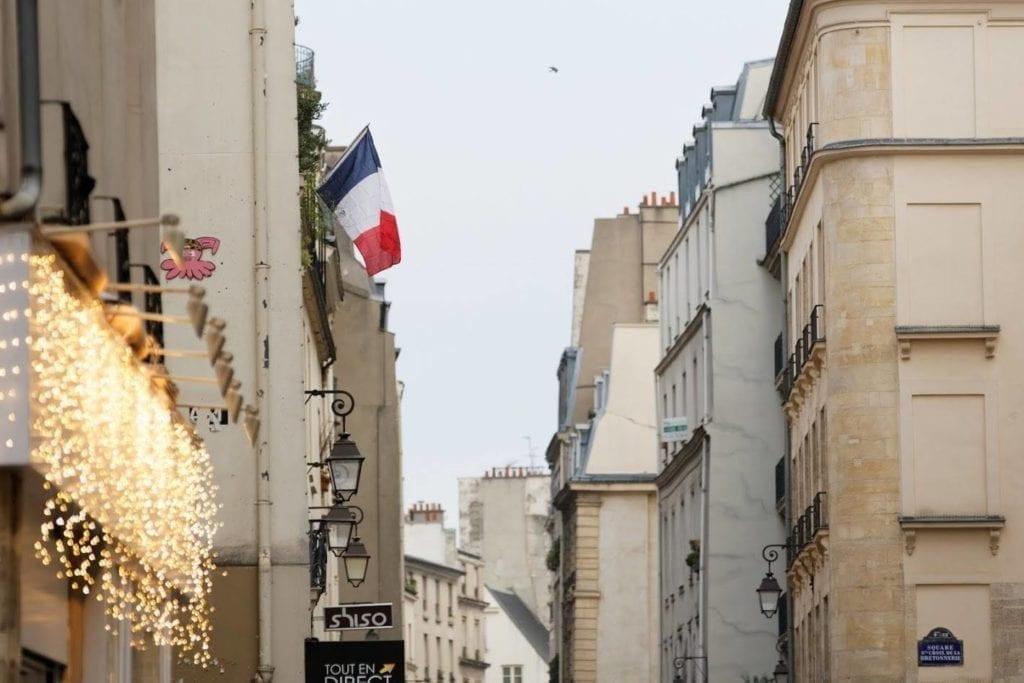 巴黎恐袭 悼念 国旗