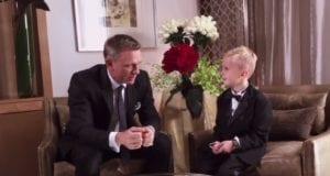 8岁《007》影迷圆梦 贴身采访偶像克雷格