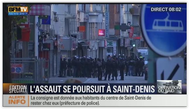 巴黎恐怖袭击 圣但尼 突击