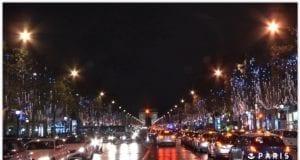 圣诞彩灯 巴黎香榭丽舍大道