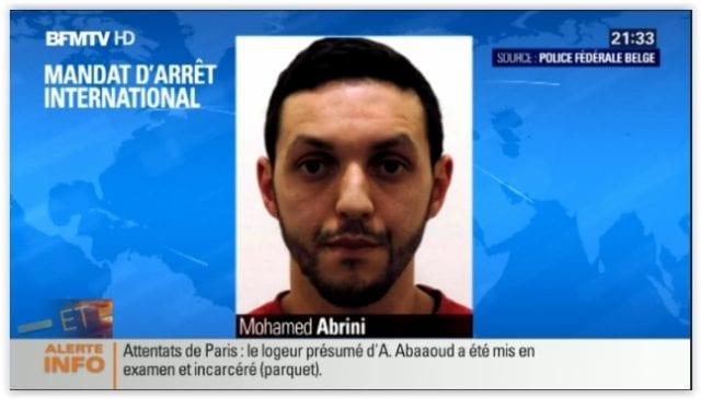 巴黎恐怖袭击 通缉犯
