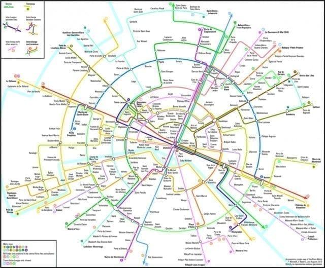 巴黎 地铁 地图