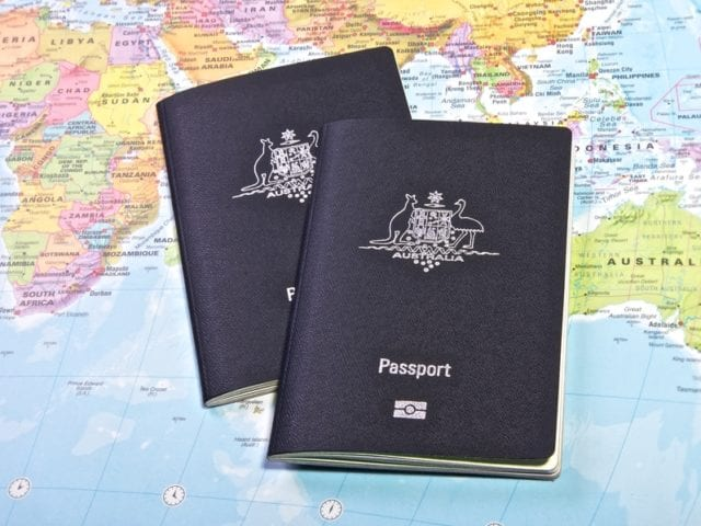 澳洲 移民 护照 签证