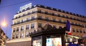 巴黎 旅游 香榭丽舍大街 圣诞饰灯