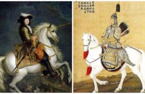 路易十四与乾隆的骑马画像