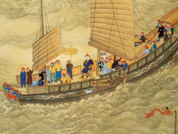 康熙大帝 船上旅行