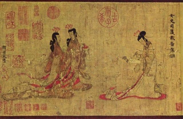 女史箴图中的衣裳 (图片来自公共领域)