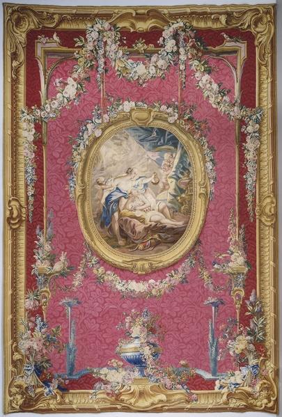 波旁公爵夫人(1750-1822年)拉塞宫睡房中,布歇的织锦画挂毯。(© RMN-GP(musée du Louvre)Daniel Arnaudet)