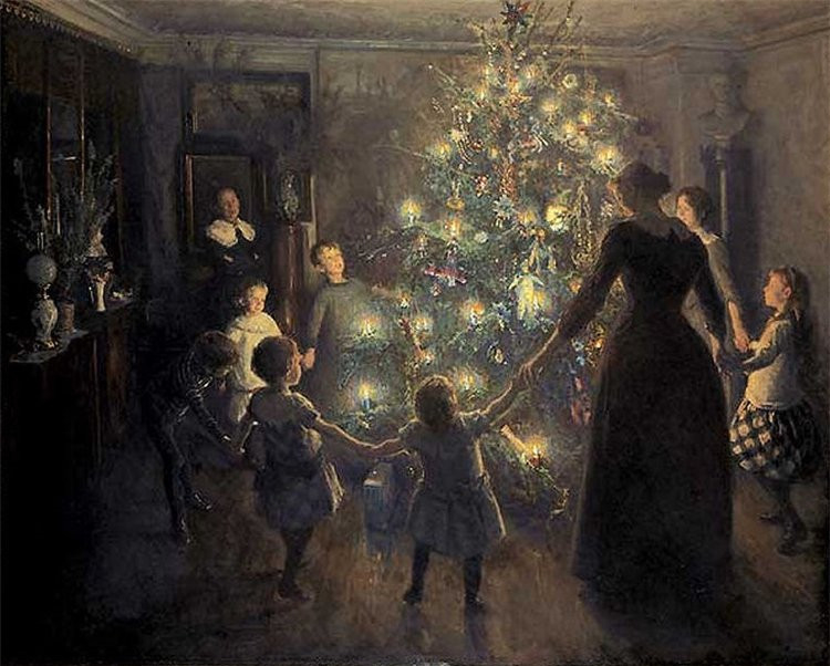 Viggo Johansen 所作《欢乐圣诞》 (维基百科公有领域)