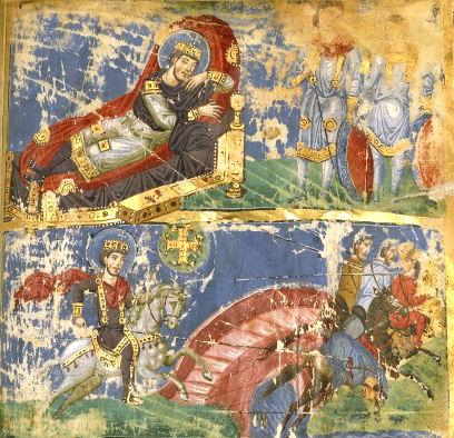 《米尔维安大桥战役和君士坦丁一世的梦》,法国国家图书馆(公共领域)
