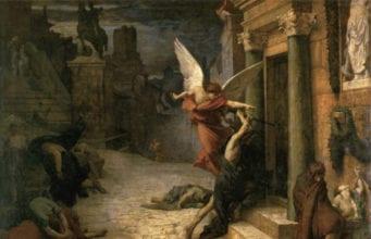 法国画家居勒-埃里.德洛内(Jules Elie Delaunay,1828~1891),〈被瘟疫侵袭的罗马城〉(Peste à Rome),1869年作,巴黎奥塞美术馆藏。(艺术復兴中心提供)