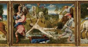 「弗莱芒大师」(Flemish Master),〈圣希玻里的殉道〉(The martyrdom of Saint Hippolytus),约1480年,板上蛋彩与油彩画,波士顿美术馆藏。(波士顿美术馆官网)