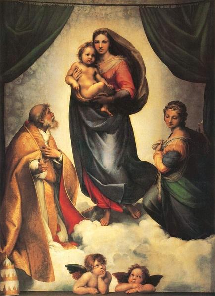拉斐尔的油画《西斯廷圣母》(网络图片)