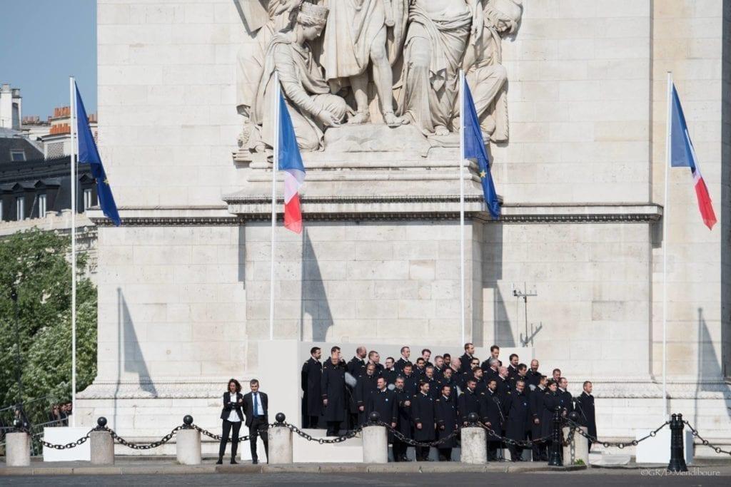法国 香榭丽舍大道 游行 骑兵团