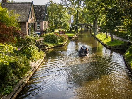 荷兰羊角村,水乡