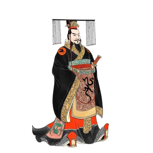 秦始皇嬴政画像。(新唐人《笑谈风云》提供)