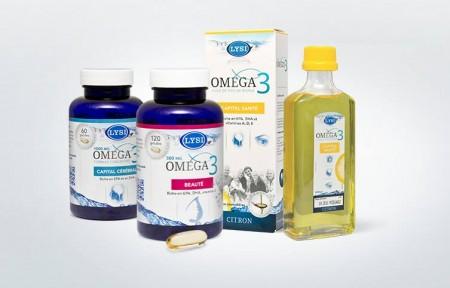 利思利喜Omega-3产品系列。(Lysi提供)