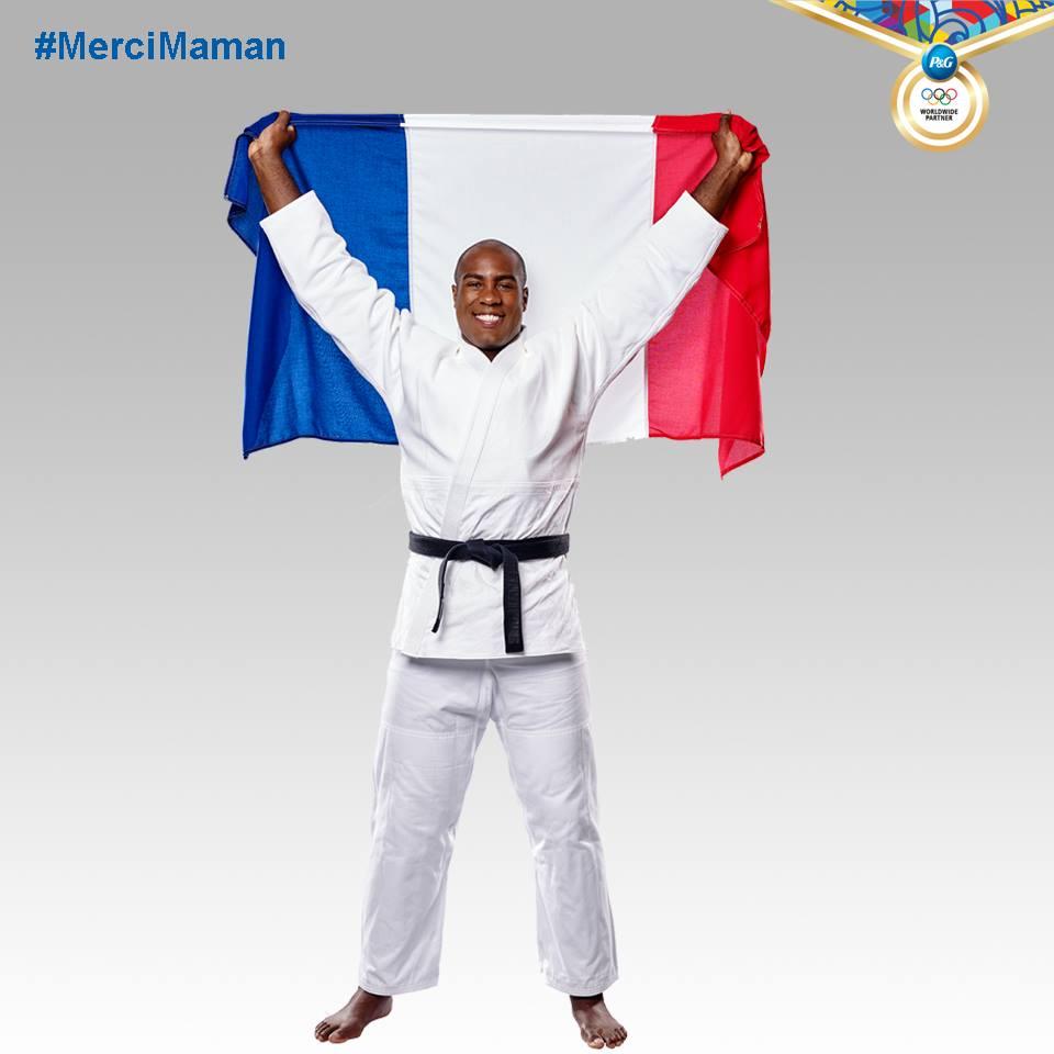 特迪·里内也是这次法国出征里约奥运的旗手。(特迪·里内脸书)
