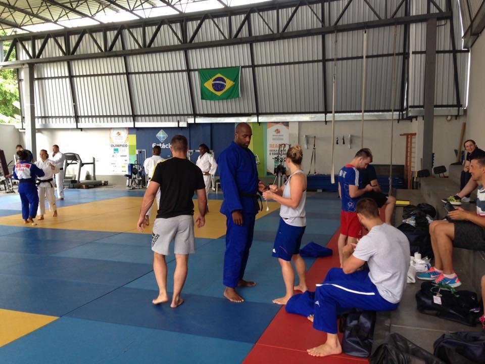 8月6日,特迪·里内在奥运会场训练。(特迪·里内脸书)