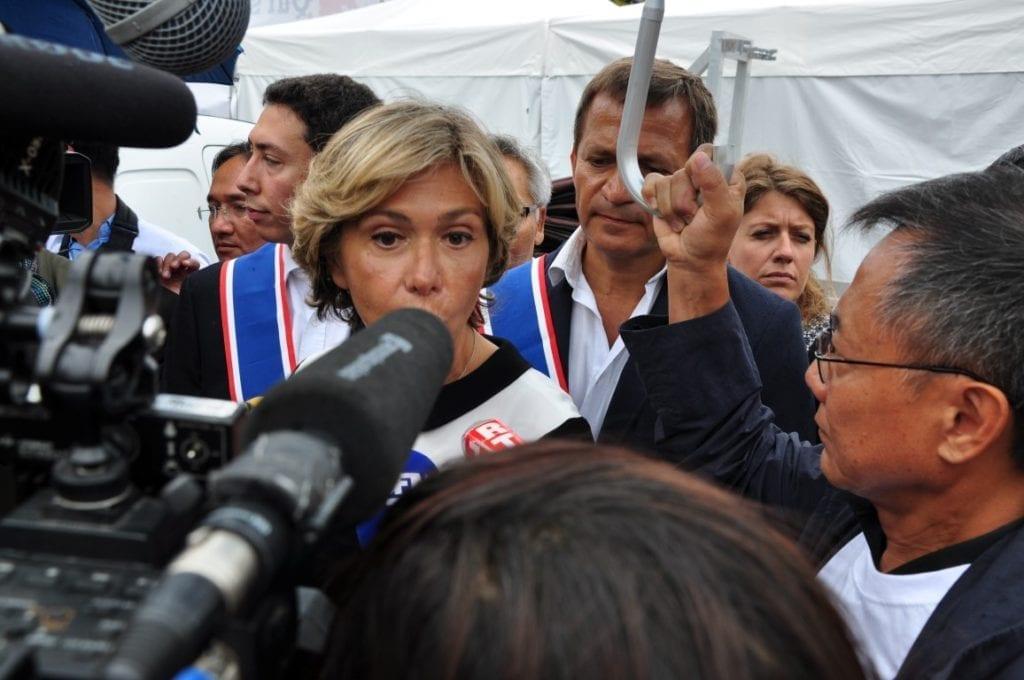 大区主席VALERIE PECRESSE在接受记者问采访。(金湖/大纪元)