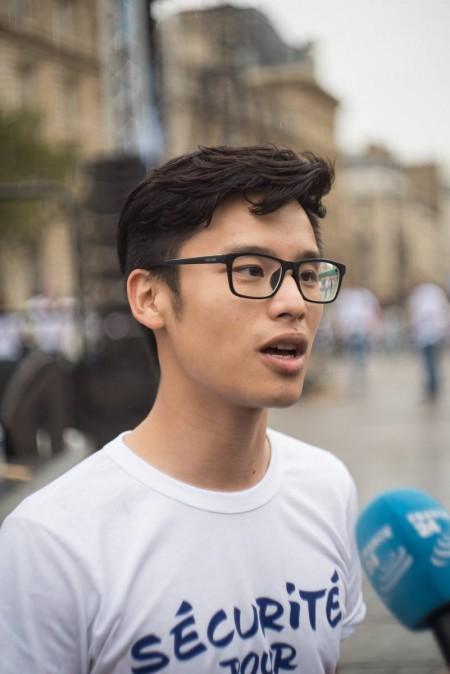 法国中国青年协会主席王瑞。(Comité Sécurité Pour Tous )