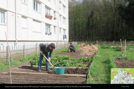 凡尔赛居民在种菜。(Ville de Versailles)