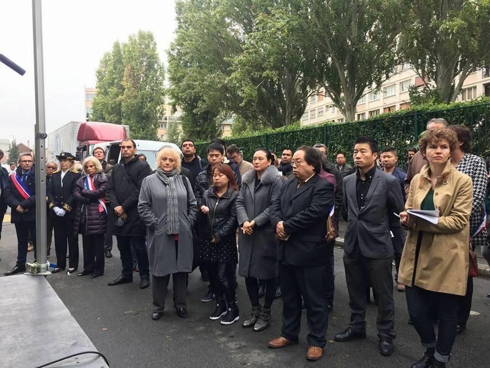 张朝林的家属出席仪式。(Ling Lenzi脸书)