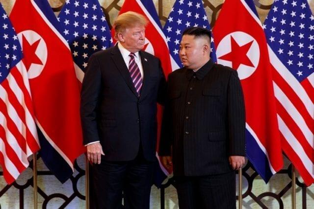 川普与金正恩2月27日在越南河内会面(AP)