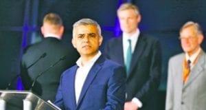 伦敦市长萨迪克·汗(美联社)