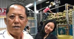 榴莲农场主和自己的宝贝女儿(图片来源:Facebook@Karnsita Rodthong)