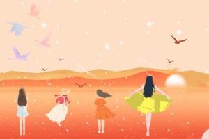 盡心帶大四個女兒,皆能乖巧、貼心、孝順(圖片:希望之聲合成)
