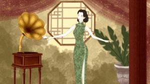 1940年代-波浪大卷(授權圖片)