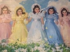 五胞胎女孩们的一幅画 (The Dionne Quints/FB)