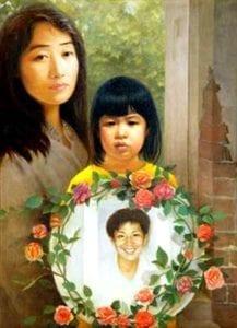 [《我要爸爸》:汪卫星油彩.画布22 in x 30 in(2004年)版權歸屬原作者]
