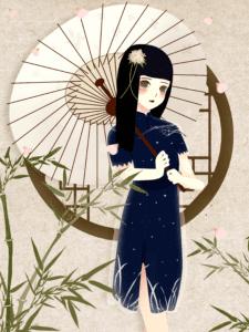 """年轻女子除了梳髻以外,有的还留一缕头发于额上,俗称""""前刘海儿""""(授權圖片)"""