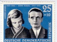 德國邮票:萧尔兄妹(圖片:維基百科)