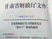 """甘肃省财政厅发文要求过""""紧日子"""""""
