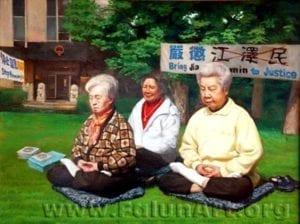 [《正义之场》:董锡强油彩.画布48 in x 36 in(2004年)版權歸屬原作者]
