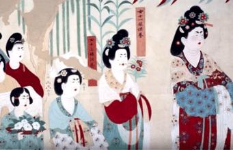 古代女子也爱美,她们是如何化妆的(视频截图)