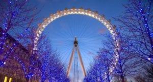 夜晚的伦敦眼(圖片:維基百科)