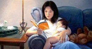 好人生最大的捷径就是用时间和生命阅读一流的书(图片:真善忍美展《静夜》)