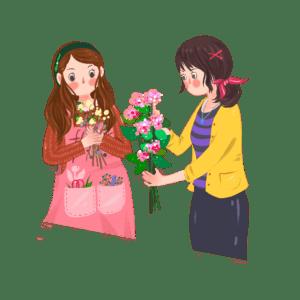 學習插花的女生