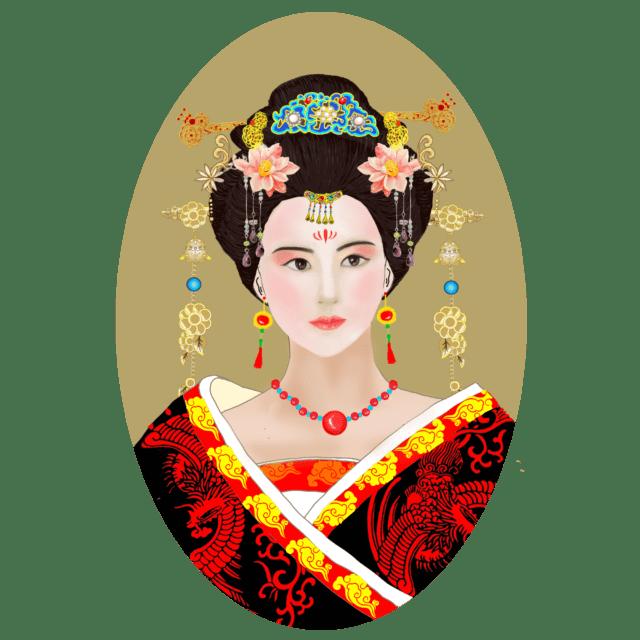 中国唐代发型(授权图片)