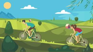 我们都学会了骑自行车,目的是到远处的农村买菜